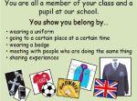 Belonging to My School