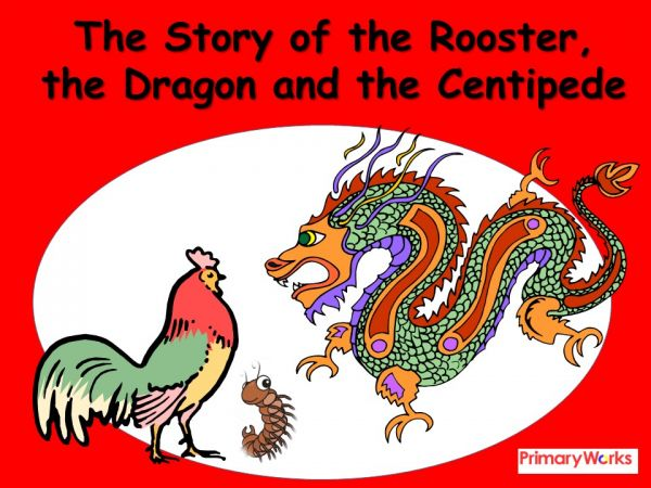 story of rooster powerpoint | chinese new year story of rooster, Powerpoint templates