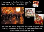 Hogmanay and New Year Traditions