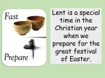 L is for Lent
