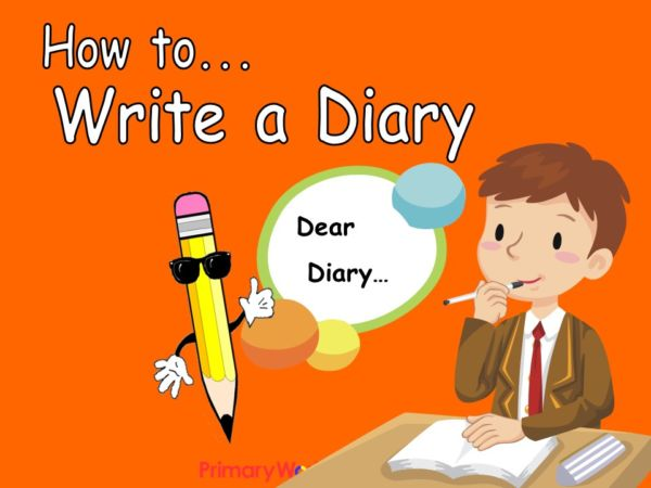 Writing In A Diary ~ How to write a diary ks powerpoint teaching