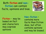 Reading – Fiction and Non-Fiction