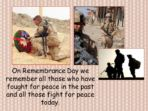 Remembrance Day – Lest We Forget