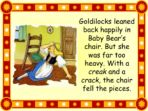 Traditional Tale – Goldilocks and the Three Bears