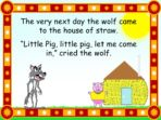Traditional Tale – Three Little Pigs