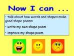 Shape Poetry