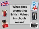 British Values – INSET