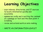 Writing an Information Leaflet