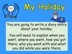 My Holiday – Diary Writing