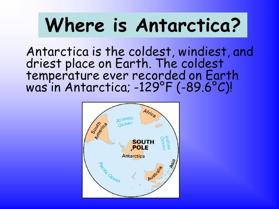 Habitats – Antarctica