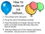 Ice Balloons – Investigation