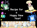 Recipe for a Happy New Year 2021