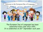 European Languages Day