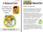 A Balanced Diet – Report Writing