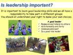 Leadership – Citizenship