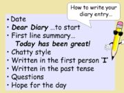 how to write a diary entry ks2