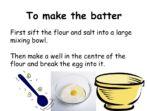 Making a Pancake – Instructions