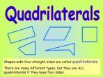 Quadrilaterals and 2D Shapes