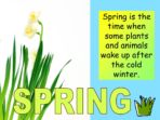 Spring and its Festivals