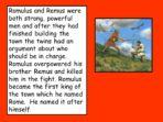 Legend of Romulus and Remus