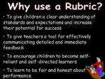 What is a Rubric?  INSET