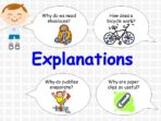 Writing an Explanation