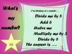What's My Number – Double and Halve