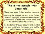 Prodigal Son – Parable