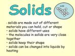 How are Solids, Liquids & Gases Different?