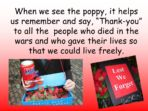 Remembrance  – EYFS and KS1