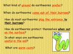Note Making – Earthworms