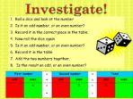 Odds & Evens – Investigate