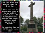 War to End  all Wars – First World War